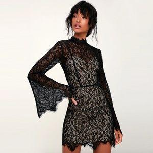Ryse the Label Carson Lace Mini Dress in Black